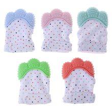Silicone Baby Teether Teething Tooth Mitt Mitten Glove Safe Chew Dummy Toy ZE