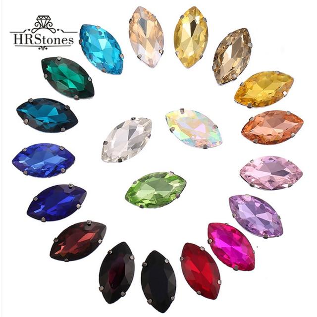Claw Rhinestones Horse Eyes Clear Wedding Shoes Crystals 4x8mm 5x10mm  7x15mm Sewing Flatback Clear Glass Rhinestones For Crafts 96f1c37d6b5d