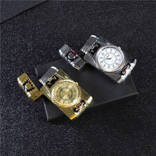 Creative Electronic Flash Watch Metal Lighter gas Torch Turbo Cigar Cigarette Lighters smoking accessories