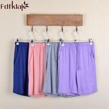Женские пижамные штаны из модала, летние новые хлопковые шорты свободного кроя, спальная Пижама, брюки для сна, женские черные/серые M-XXL, Q343