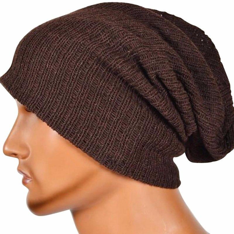 Men's Women's Knit Baggy Beanie Oversize Winter Hat Ski Slouchy Unisex Cap hot winter beanie knit crochet ski hat plicate baggy oversized slouch unisex cap