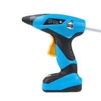 7.2V Industry Electric Glue Gun Hot Melt Hig Temperature Graft Cordless Glue Gun Repair Tools With 30pcs 7mm Glue Sticks
