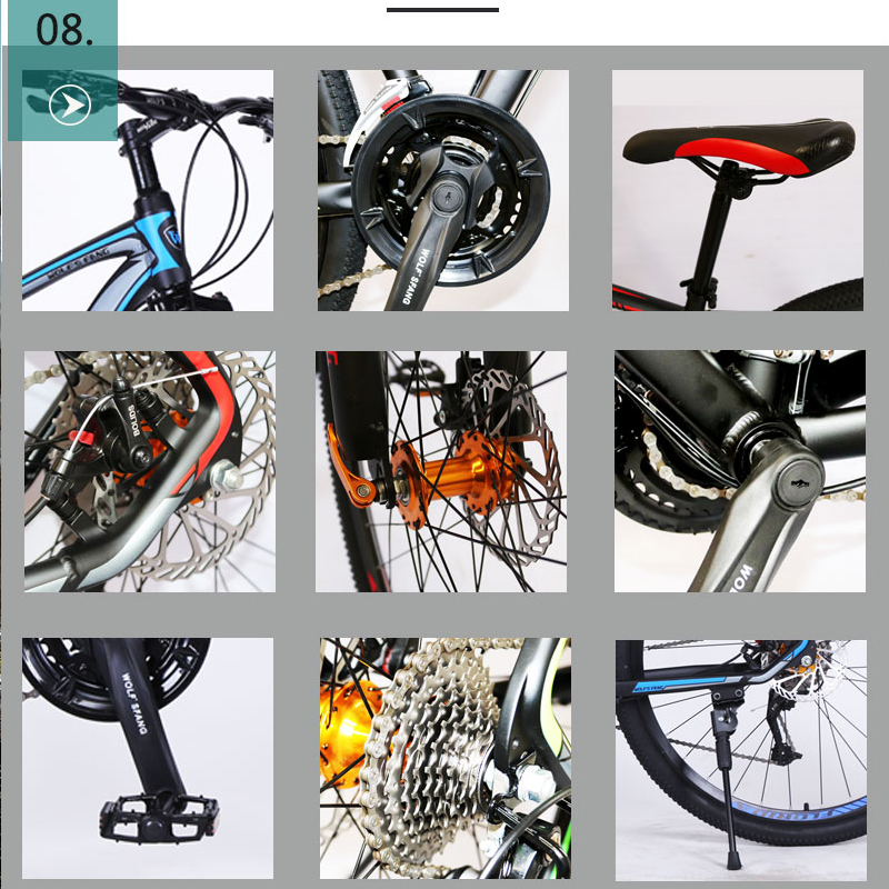 wolf s fang bicycle mountain bike 29 road bikes 27 speed Aluminum alloy Frame size 17 wolf's fang bicycle mountain bike 29 road bikes 27 speed Aluminum alloy Frame size 17 inch bmx Mechanical Disc Brake bicycles