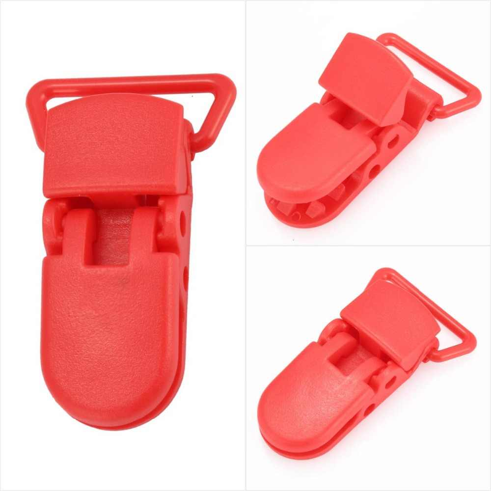 Пластиковые прищепка для соски детские соски красный белый фиолетовый черный держатель для сосок Детские принадлежности соски цветные крокодил клип