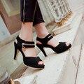 Sapatas das senhoras Top Limited Big Plus Size 34-43 Sapatos Sandálias Das Mulheres 2016 Plataforma Sapato Feminino Verão Estilo Chaussure Femme 513