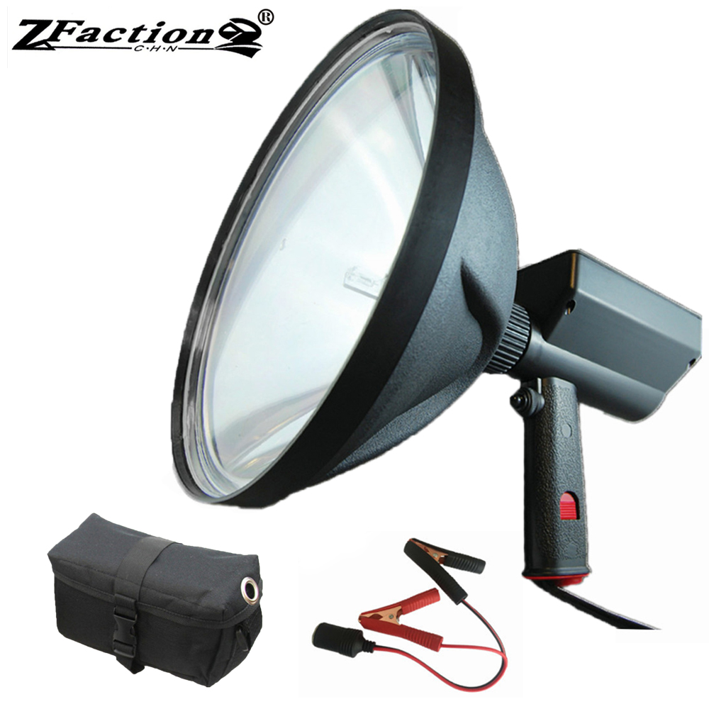 Ultra Bright 8000LM HID Hunting Spotlight 240mm 100W HID Searching Light Fishing Adventure Lamp Spot And Flood Beam Adjustable