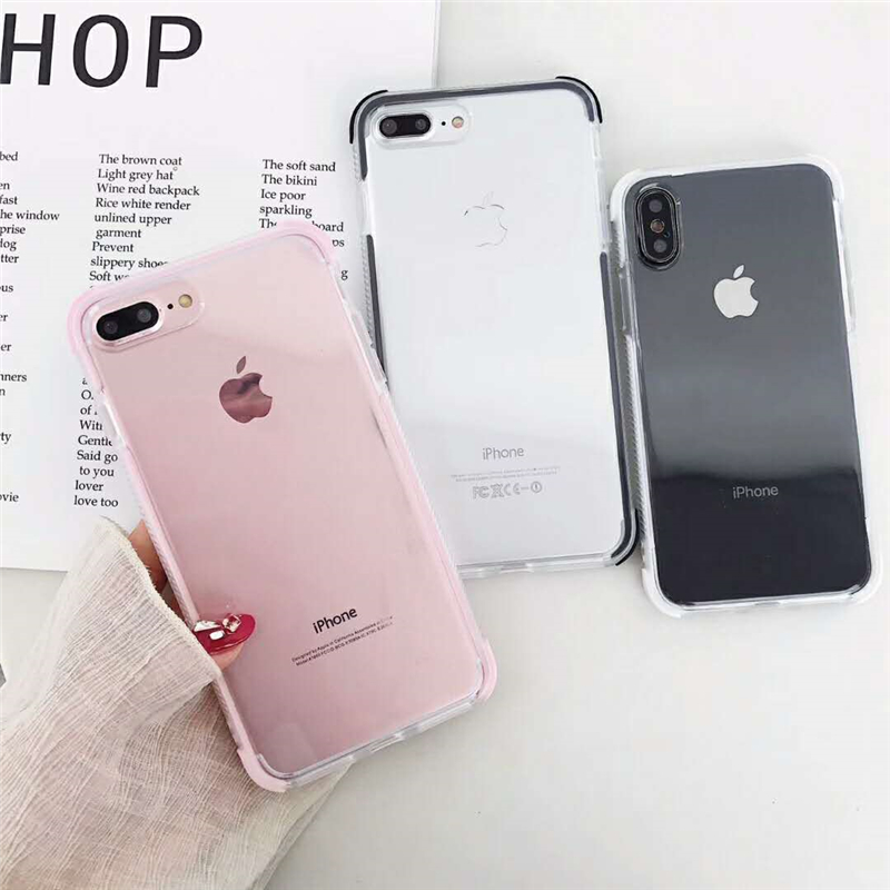 aaa3155601 Airbag Drop Protection Cases For iPhone X Case For iPhone 6 6S 7 8 Plus  Coque Transparent Silicone Dual Layer Back Cover Fundas