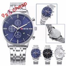 Calendar Quartz Wrist Watch Stainless Steel Bracelet Men Watch #3350 Brand New High Quality Luxury Free Shipping