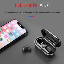 TWS Bluetooth Earphone Noise Canceling Wireless Headphones IPX6 Waterproof 5.0 Headset Earbuds