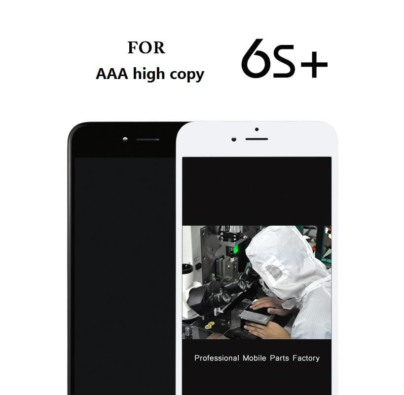 imágenes para 10 unids Para Iphone 6 s Plus Pantalla Lcd Táctil Digitalizador Asamblea del Reemplazo Completo (cameraring + malla oído + sensorización)