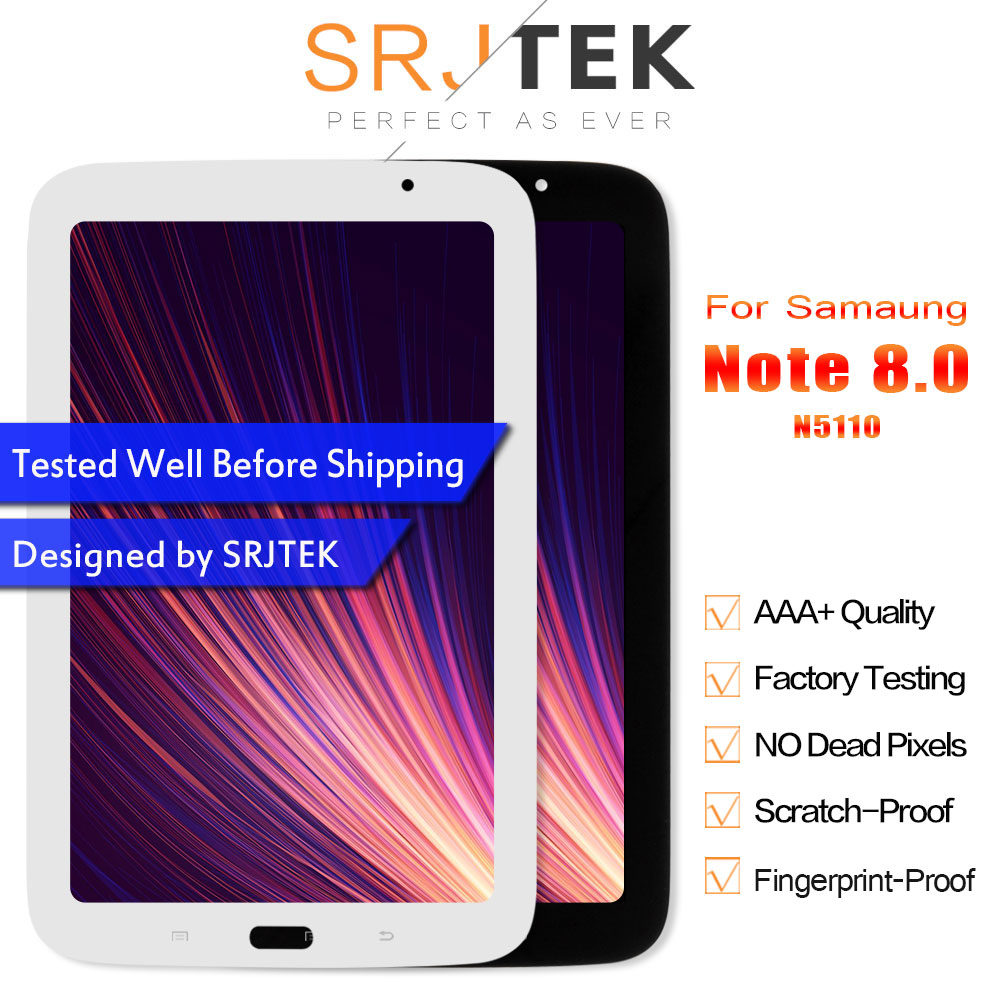 Srjtek 8 inch For Samsung Galaxy Note 8.0 N5110 LCD Display Screen Touch Digitizer Sensor Tablet Pc Assembly Replacement PartsSrjtek 8 inch For Samsung Galaxy Note 8.0 N5110 LCD Display Screen Touch Digitizer Sensor Tablet Pc Assembly Replacement Parts