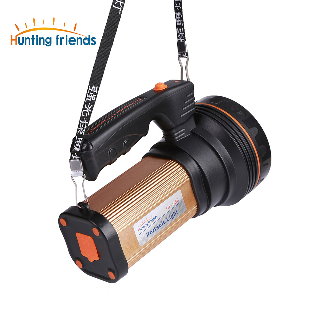 Hunting Friends Super Bright LED Portable Lighting Rechargeable Portable Flashlight& Torches for Hunting Fishing Camping Outdoor outdoor super bright rechargeable hunting flashlight cree xml l2 60w led portable spotlight with hight middle flash model