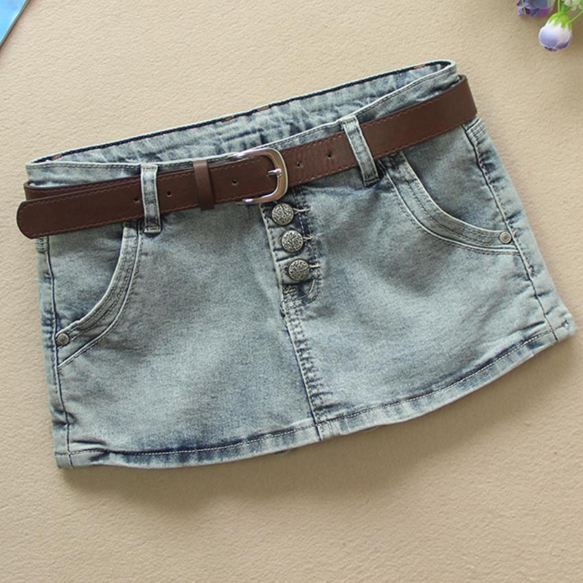 2019 New Denim Shorts Skirt Women Summer  Two Pieces Stretch Slim Package Hip Jeans Shorts