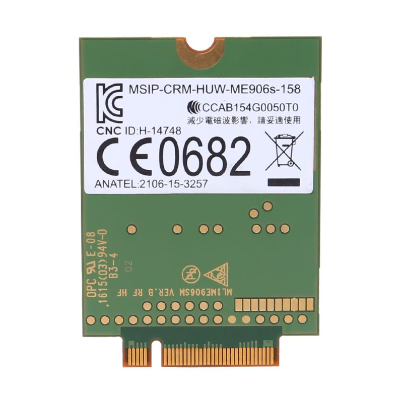 NoEnName_Null Mobile Broadband Card for HP LT4132 LTE HSPA+ 4G Module Huawei ME906S ME906S-158 845710-001 845709-001  NoEnName_Null Mobile Broadband Card for HP LT4132 LTE HSPA+ 4G Module Huawei ME906S ME906S-158 845710-001 845709-001
