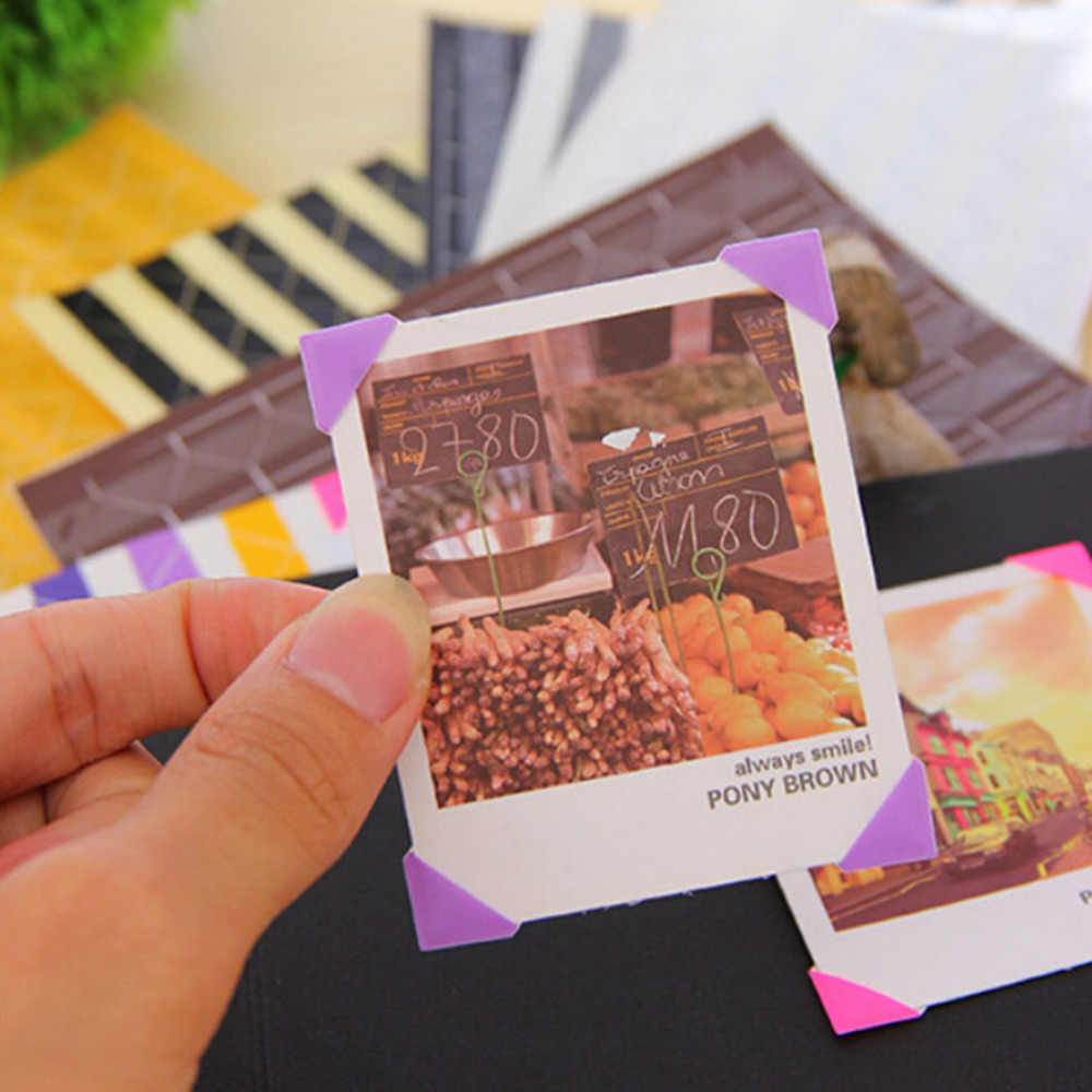 408 pcs /4 set  Simple & Practical  Colorful Corner Paper Stickers for Pictures Photo Albums Frame Scrapbooking Home Decoration