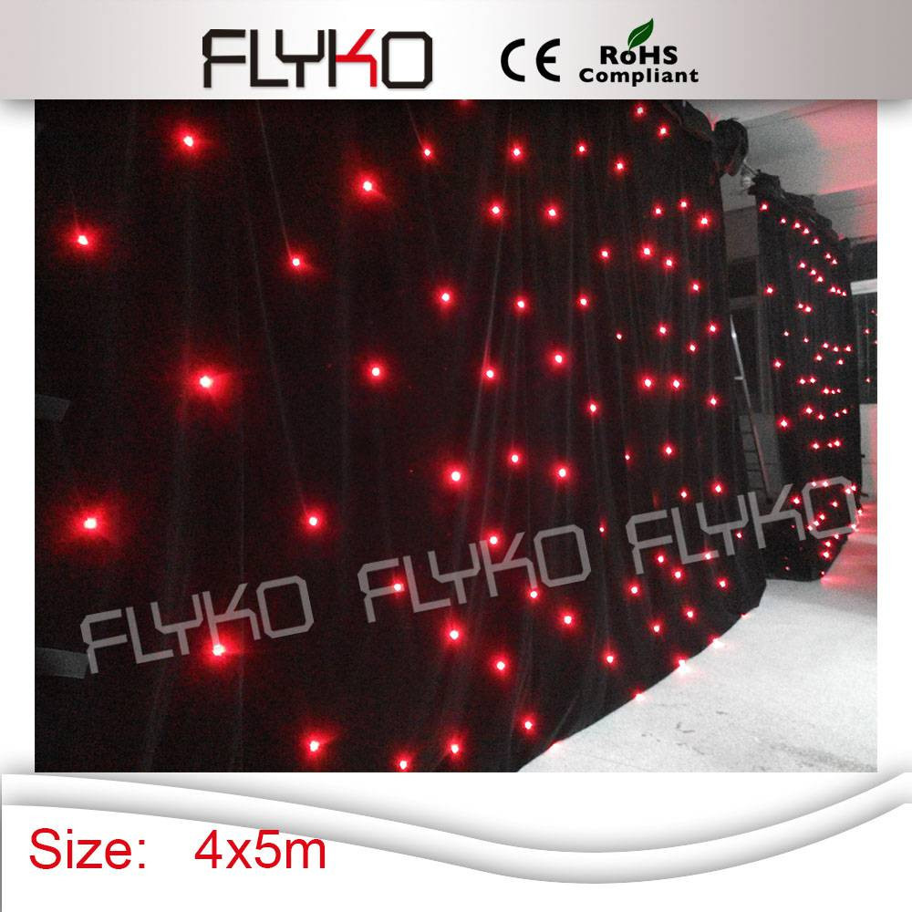 Cheap black stage curtains - Low Price 4x5m 120pcs Folding Black Led Star Light Curtain China Mainland