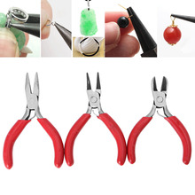 3Pcs Mini Mixed Nose Pliers Cutter Beading Jewelry Making Repair Crafts Tool G18 Drop ship