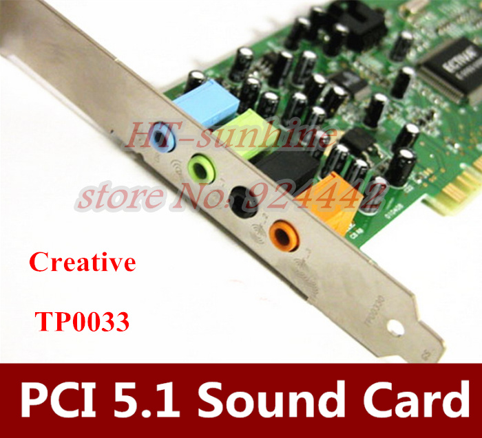 Original 2PCS/LOT SOUND BLASTER 5.1 TP0033 PCI sound card For CREATIVE