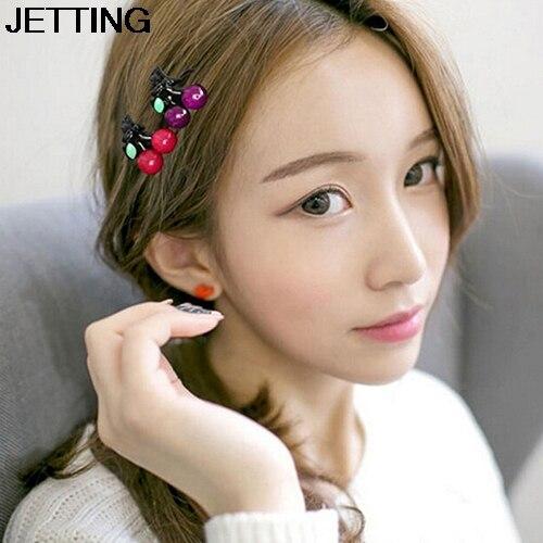 1 Pair Cherry Mini Hair Claws Korean Headwear Cute Hairclip For Women Girls Fashion Hair Accessories Princess Headdress