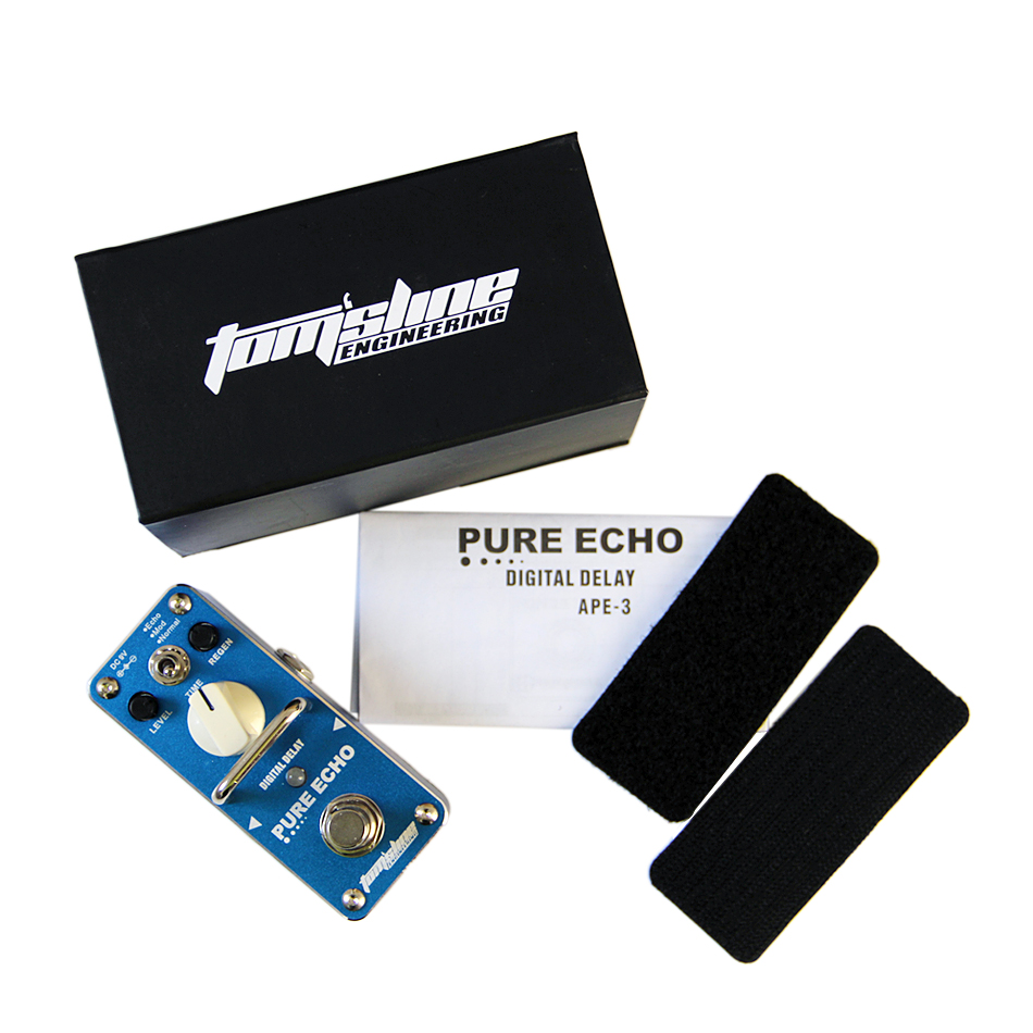 AROMA APE-3 PURE ECHO Digital retard de la pédale effets de guitare pédale Echo Mod Normal 3 Modes True B - 5