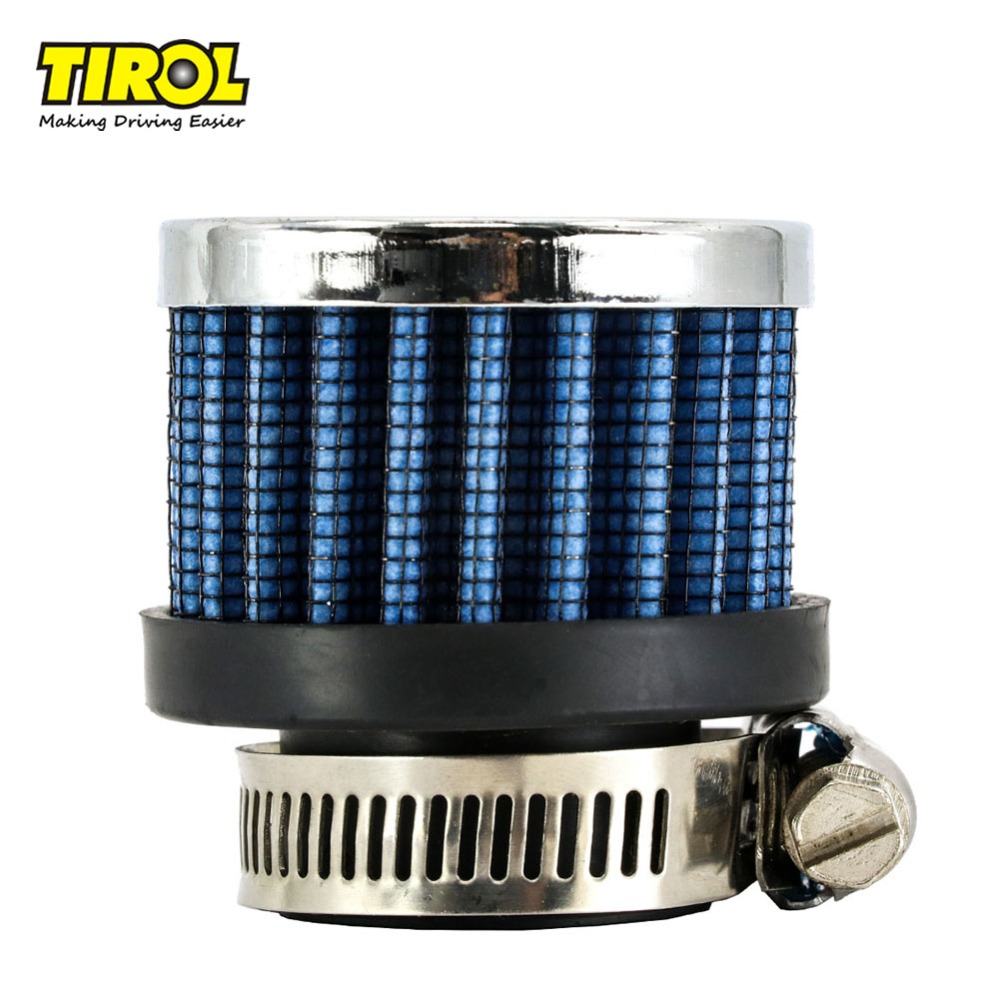 TIROL T11601d Universel Mini Filtre À Air Diamètre 25mm Ronde Conique Auto Mini Prise D'air Froid