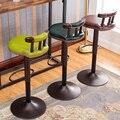 Мода антикварный стул барный вращения подъема передней стол и стул комфортно естественно плавные линии стульчики твердой спинкой древесины