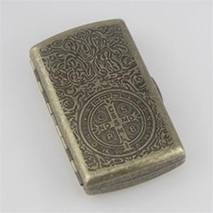 Image 3 - Новый металлический чехол для сигарет, карман для хранения, контейнер для испарителя IQOS, мини держатель для сигарет