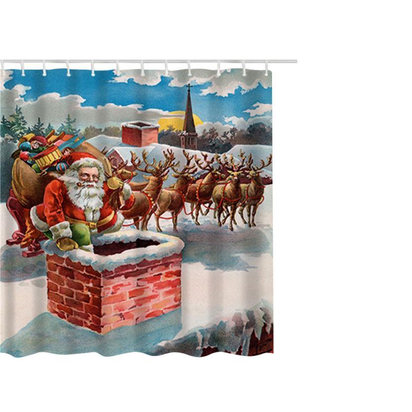 Gajjar домашний текстиль душ Шторы Рождество Водонепроницаемый полиэстер Ванная комната  ...