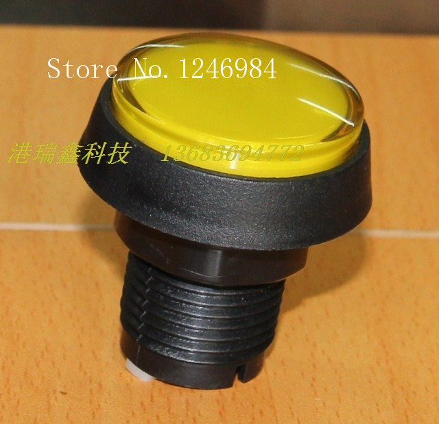 [SA]Video game console accessories button buttons yellow circle hypotenuse mainframe computer switch button--20pcs/lot