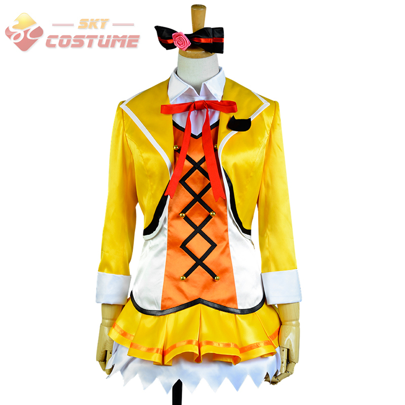 LoveLive! Love Live Rin Hoshizora Stage Uniform Dress For Women Girls Full Set Anime Halloween Cosplay Costume Custom Made
