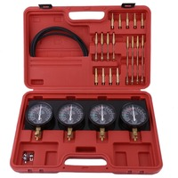 Universal 4 In 1 Fuel Vacuum Carburetor Synchronizer Set Sync Gauge Vacuum Hoses Extensions Kit For