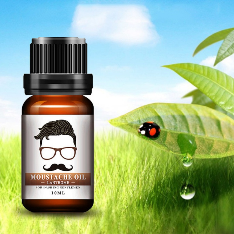 Best Quality 100% Natural Moisturizing Men Beard Oil for Styling Beeswax Smoothing Gentlemen Beard Care Conditioner 10ml 5