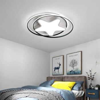 Czarny/biały nowoczesne lampy sufitowe led dla małych living pokój sypialnia badania przejściach i korytarzach ściemniania aluminium lampy sufitowe oświetlenie 110 220V