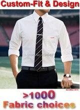 Мужские Рубашки На Заказ Белые Люди Рубашка С Длинным Рукавом плед Полосатый Мужские Рубашки Мода На Заказ Slim Fit Рубашка платье(China (Mainland))