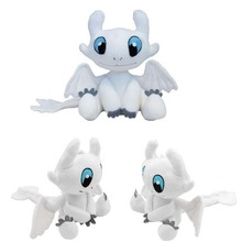 Dragon 3 Plush Toy Light Fury Soft White Stuffed Doll Christmas Gift 25cm