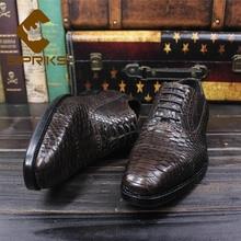 Sipriks/темно-коричневые туфли-оксфорды из змеиной кожи; итальянская прошитая обувь из кожи питона; обувь с перфорацией типа «броги» в деловом стиле; спортивные костюмы; 44, 45