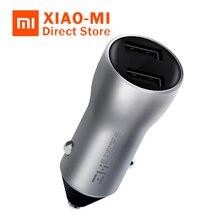 Xiaomi ZMI автомобильное зарядное устройство 18 Вт Dual USB Quick Charge 3,0 быстрое зарядное устройство AP621 цифровое напряжение/Текущий Дисплей 5 В/2.4A для смартфона