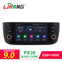 LJHANG Android 9.0 Car DVD Stereo For Fiat Linea Grande Punto 2012 2013 2014 2015 GPS WIFI Multimedia Player RDS IPS Head Unit
