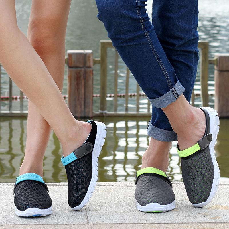 New Brand Men Women Beach Shoes 2015 Summer Fashion Mesh breathable - Kasut lelaki - Foto 5