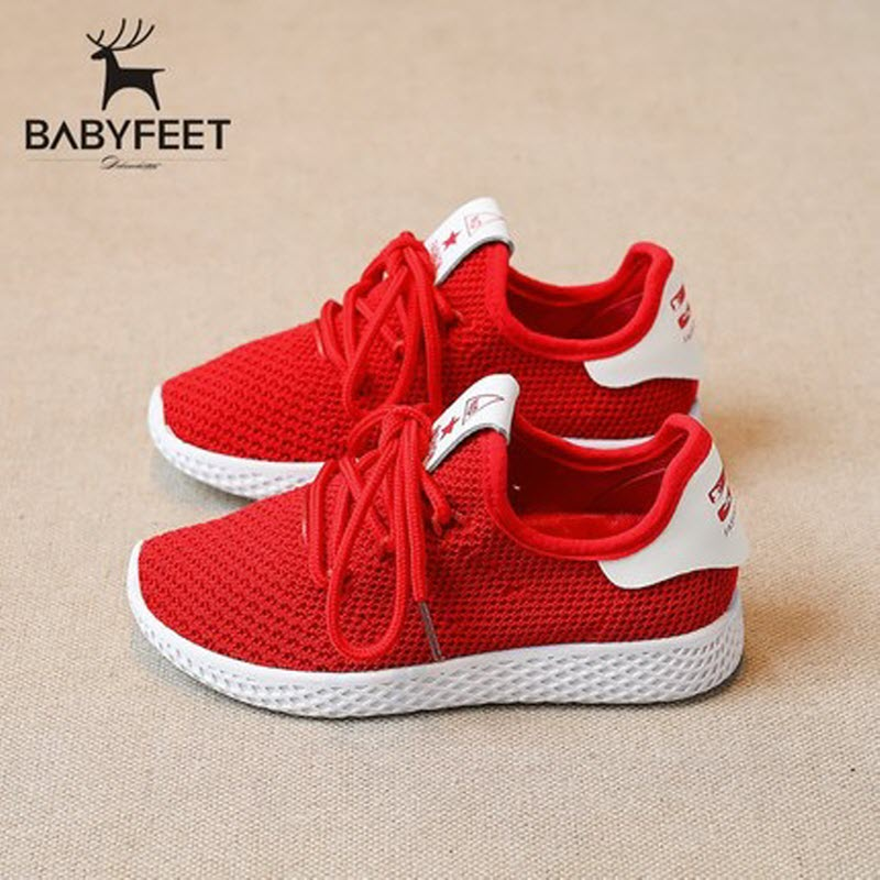 Babyfeet High Quality 2017 Fashion New Children Shoes Breathable Mesh Sports shoes Running flat Light Kids sneakers size 26-30 high quality children sneakers 2016 spring