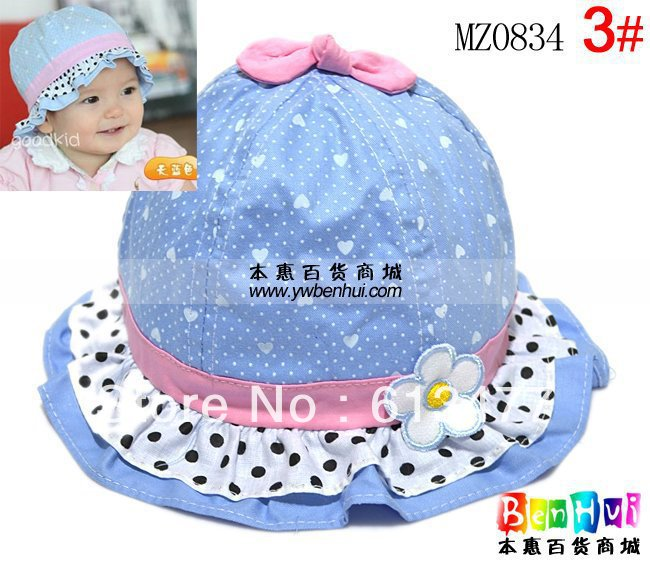 Winter Warm Knitted Hats For Boy/girl/kits Hats  Infants Caps Beanine For Chilldren Ear Protection Cap-Dot Lace Mz0834-1pcs