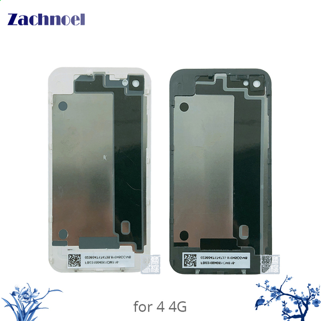 bc1e669461d657 Glass Cover for iPhone 4 4G 4S Back Housing Battery Door Rear Cover Chassis Replace  Parts White Black AAAA Quality Replacement