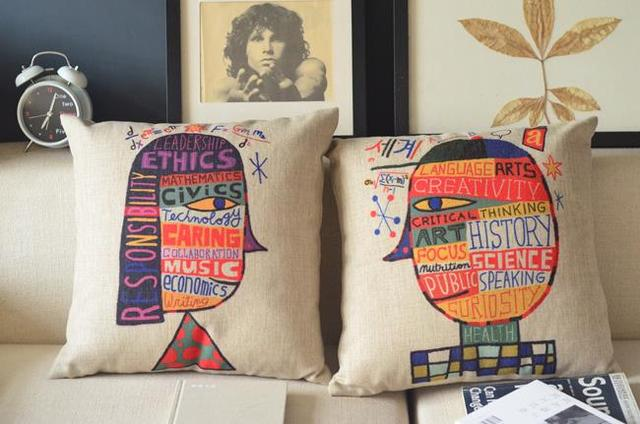Creativity British Pop Art Cartoon Cushion ,comic Portrait Pillow Office Home  Decoration Sofa Cushions,
