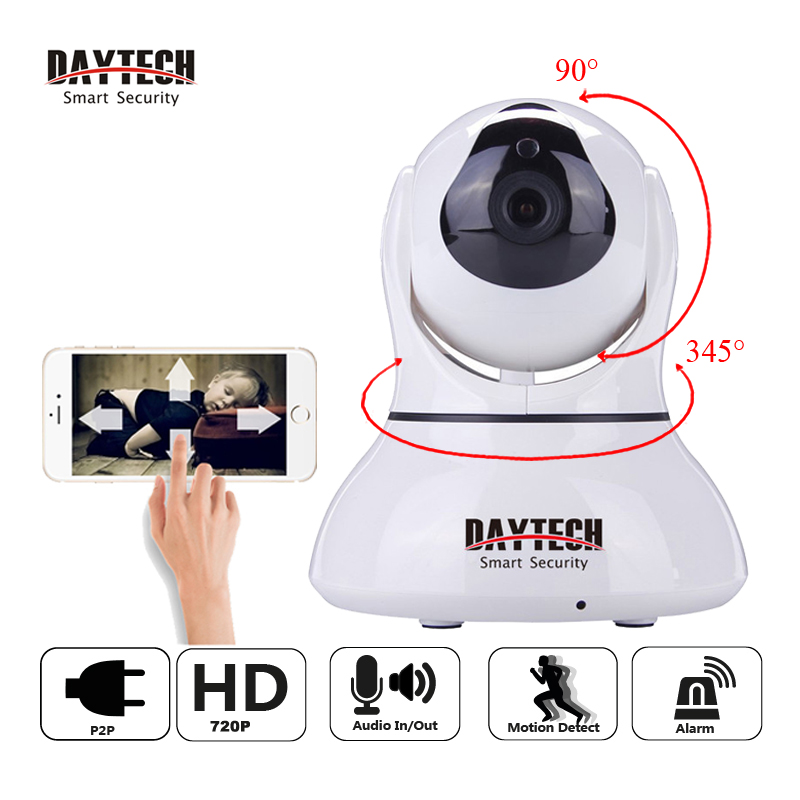 DAYTECH Wireless Wifi IP Camera Home Security HD 720P CCTV Night Vision Surveillance Camera P/T P2P Two-way Audio Cam DT-C8817 howell wireless security hd 960p wifi ip camera p2p pan tilt motion detection video baby monitor 2 way audio and ir night vision
