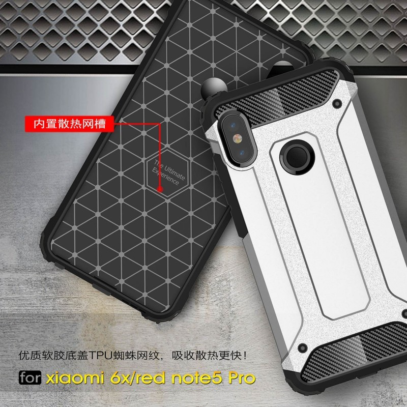 Case for Xiaomi Redmi Note 5 Pro Global A2 Case Plastic 2 in 1 Hybrid - Բջջային հեռախոսի պարագաներ և պահեստամասեր - Լուսանկար 6