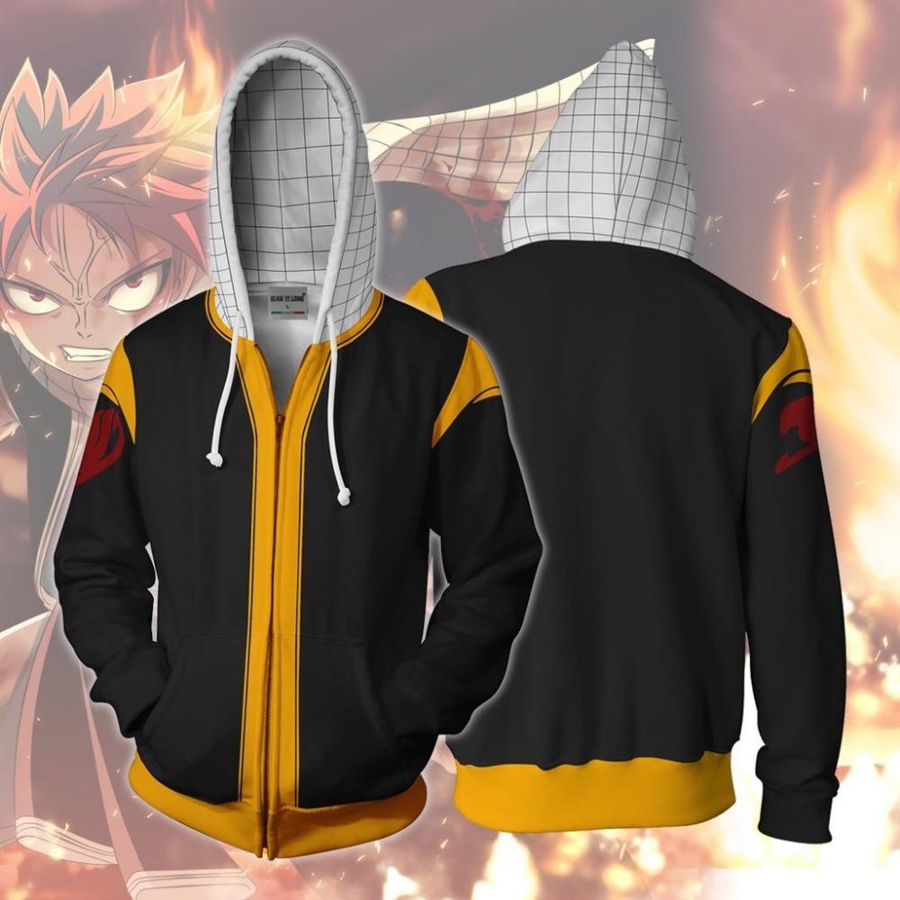 BIANYILONG 2018 new hoodies sweatshirts coat hoodies Legion suit unpleasant clothes Dragneel 3D printed zipper hoodies tops