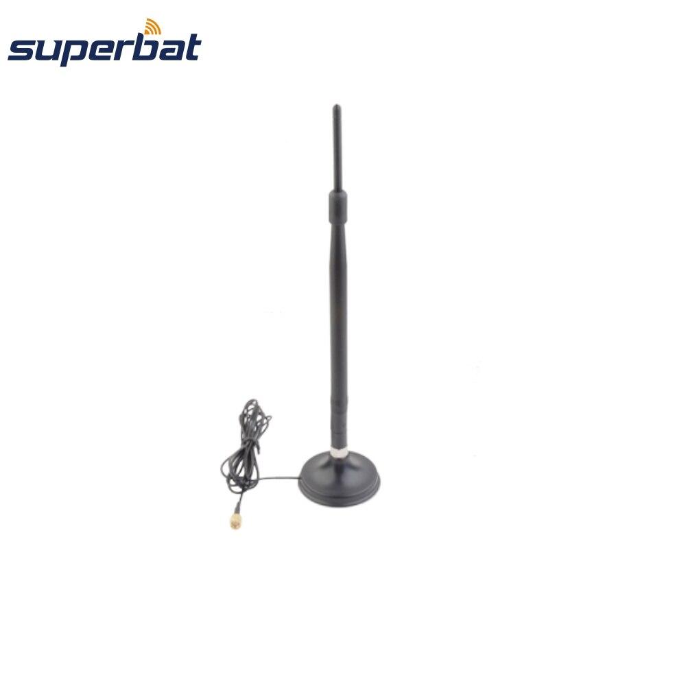 Superbat Wi-Fi антенна 2,4 ГГц 7dBi RP-SMA штекер антенна 2 м кабель 50 Ом Магнитное основание для беспроводной LAN карты AP настраиваемый