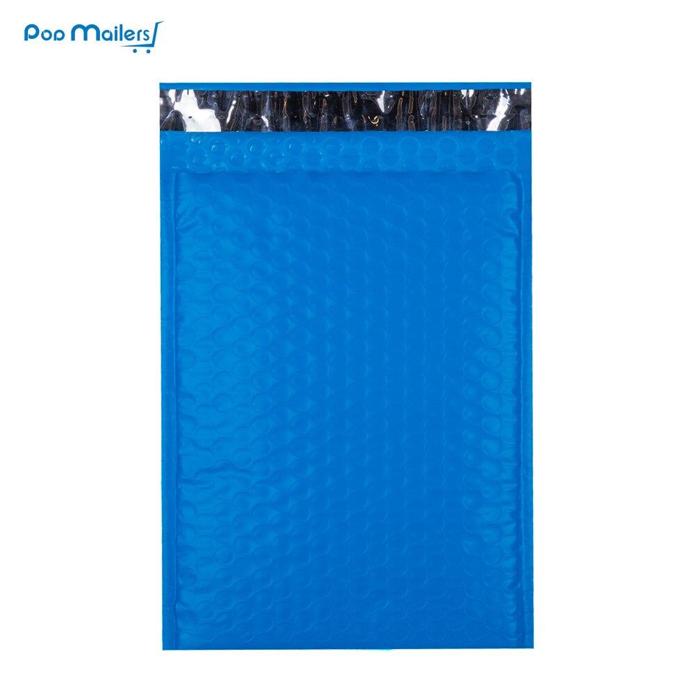 10pcs 175*230mm 6*9 Inch Blue Poly Bubble Mailers Envelopes Bags