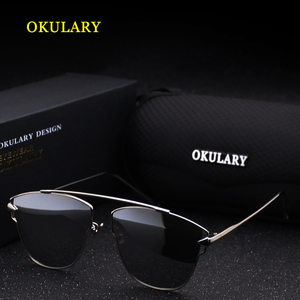 Image 3 - 2020 Women Polarized Sunglasses Blue/Pink/Silver Lens UV400 Metal Frame Lady Sunglasses With Box