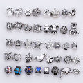 Mixed Charms Beads Fit Pandora Encantos de Prata Antigo do Metal de Liga de Zinco DIY Spacer Beads & Jewelry Making 40 pçs/lote B8759